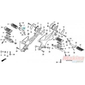 50711MAN600 Μαρσπιέ Συνεπιβάτη Δεξιό Honda CBF-600-1000