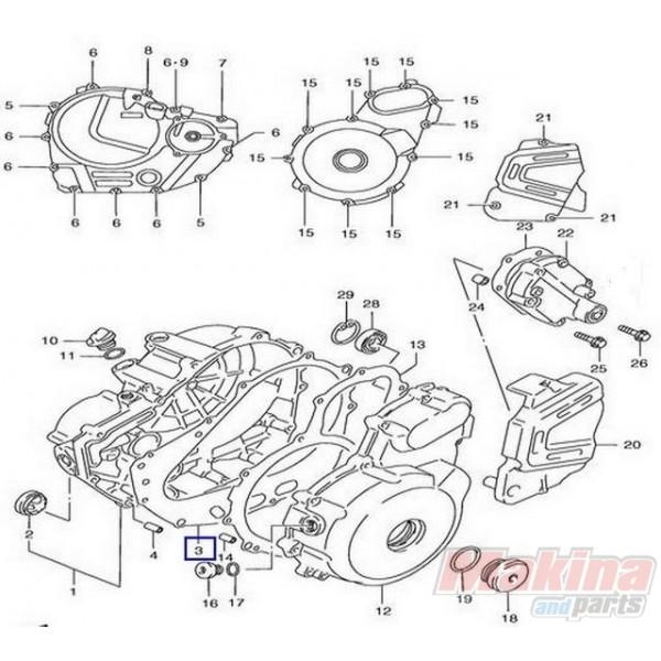 1148232E00 Clutch Cover Gasket Suzuki XF-650 Freewind