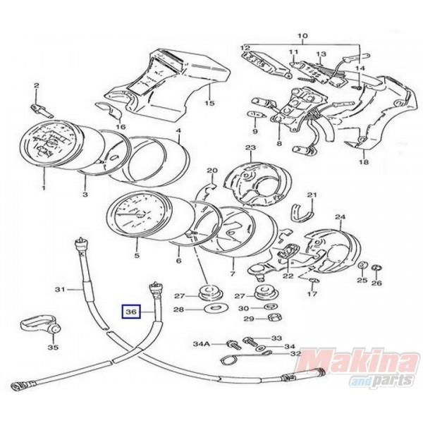 3494038300 Tachometer Cable Suzuki GN-250