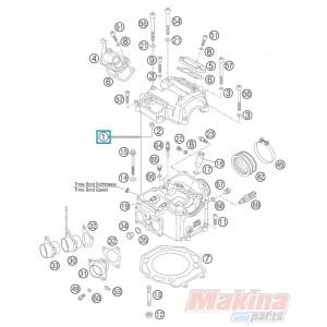 843602020023 Cylinder Head Cpl. KTM LC4-640 '03-'07