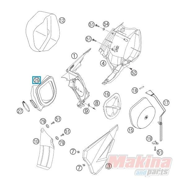 59006026000 Κολάρο Εισαγωγής Φίλτρου Αέρα KTM EXC-SX 4T
