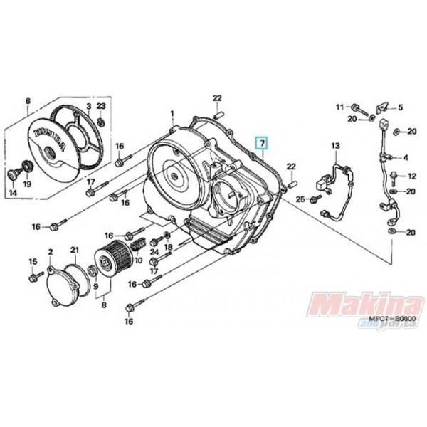 11394MY2623 Clutch Cover Gasket Honda FMX-650 NX-650 Dominator