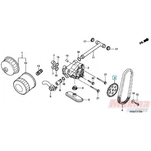 15134MR1000 Γρανάζι Αντλίας Λαδιού Honda XL-600V-650V Transalp