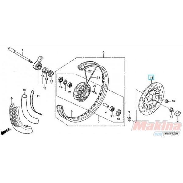 45351KRE920 Δισκόπλακα Εμπρός Honda XR-125