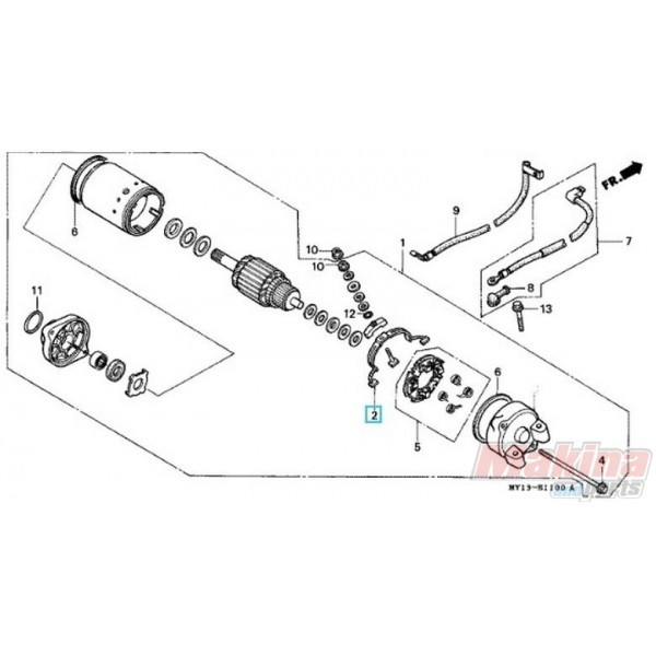 31201MR6008 Καρβουνάκι Μίζας Θετικό Honda XLV-XRV-CBF