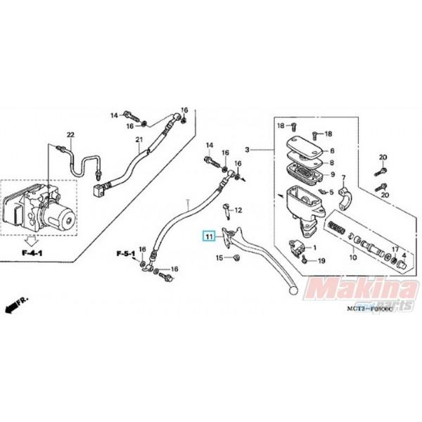 53178MCT006 Left Hand Brake Lever Honda FJS-600 Silverwing