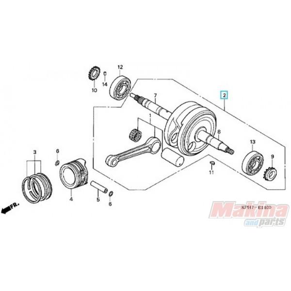 13000KPH900 Crankshaft Comp. Honda ANF-125 Innova