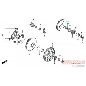 28250KPL840 Spindle Comp. Kick Starter Honda SCV-100 Lead