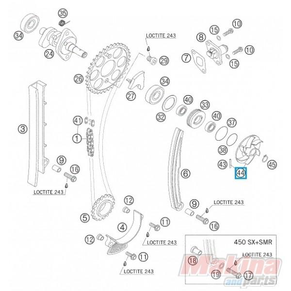 59035055144 Φτερωτή Αντλίας Νερού KTM EXC-SX 4T '00-'07