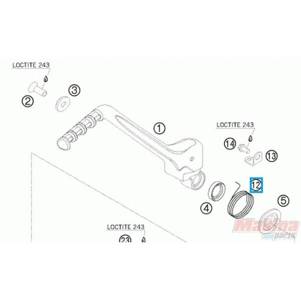 59033054000 Ελατήριο Μανιβέλας KTM EXC-SX 4T