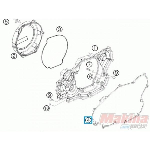 78030025000 Φλάντζα Καπακιού Συμπλέκτη KTM EXC-400-450-530