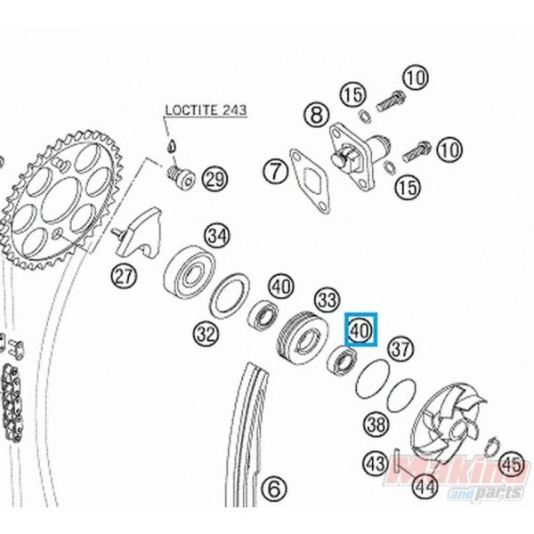 0760101844 Τσιμούχα Αντλίας Νερού KTM EXC-SX 4T