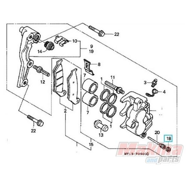 45203MG3016 Τάπα Πείρου Φρένων Honda CBF-CBR-XLV-SH