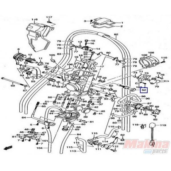 1341029F00 Βαλβίδα Τσοκ Suzuki DRZ-400E