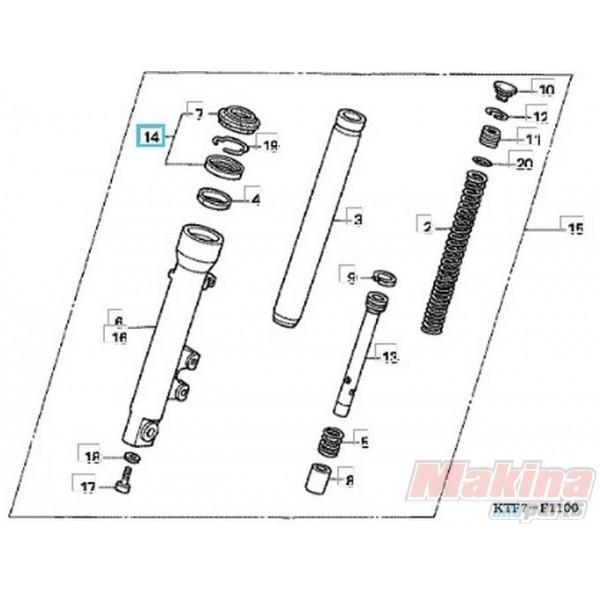 51490KL8900 Τσιμούχα-Ξύστρα Σετ Εμπρός Ανάρτησης Honda SH
