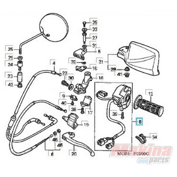 35020MAW630 Switch Set Winker Honda XL-650V Transalp '00-'03