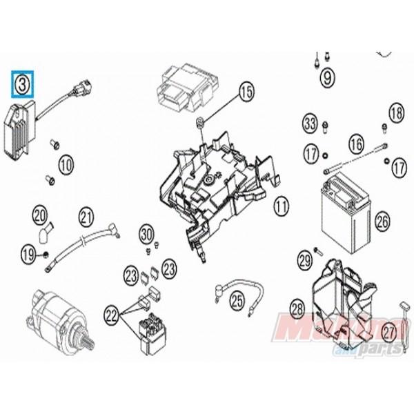 77211034000 Ανορθωτής Ρεύματος KTM SX-F SMR '07-'14