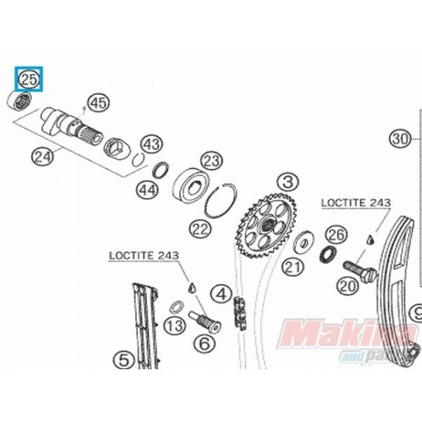58036097000 Ρουλεμάν Εκκεντροφόρου KTM LC4-640