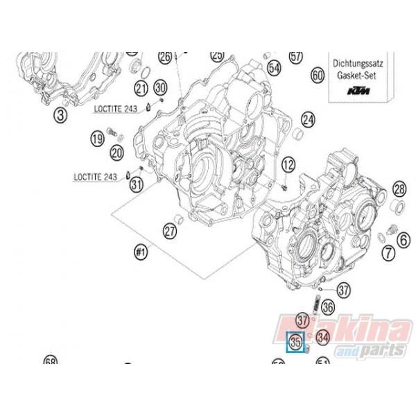 77038017000 Τάπα Λαδιού KTM EXC EXC-F SX SX-F 4T