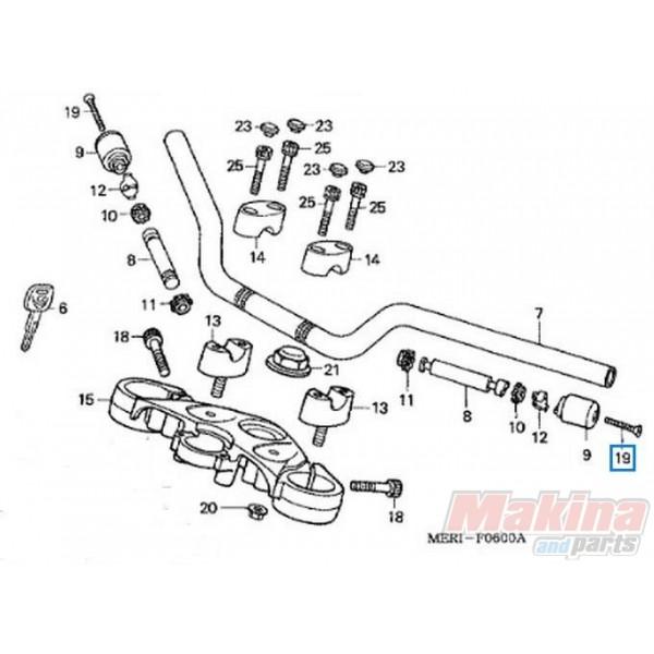 90191MJ0000 Βίδα Αντίβαρου Τιμονιού Honda CBF-600-1000