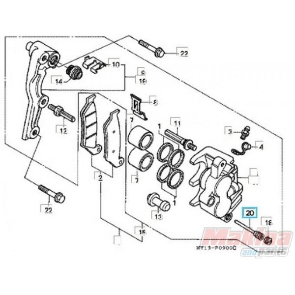 45215HA5672 Front Brake Caliper Pin Honda XL-650V Transalp