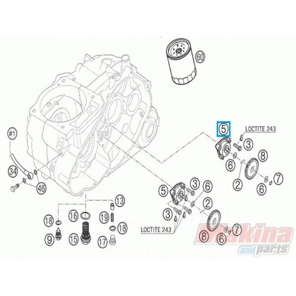 58038007700 Oil Pump KTM LC4-640 '98-'07