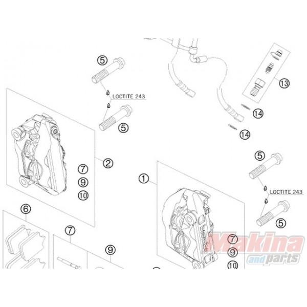 62513020000 Βίδα Εξαέρωσης Δαγκάνας KTM EXC '04-'14 SX '03-'14