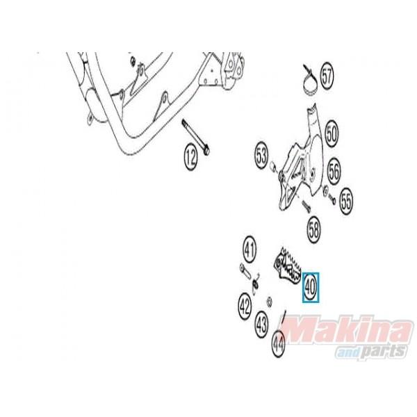 47103040000 Foot Ped Left KTM EXC '00-'02 SX '00-'13