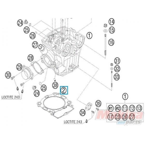 77330036000 Cylinder Head Gasket KTM SX-F 450 '07-'12 SMR