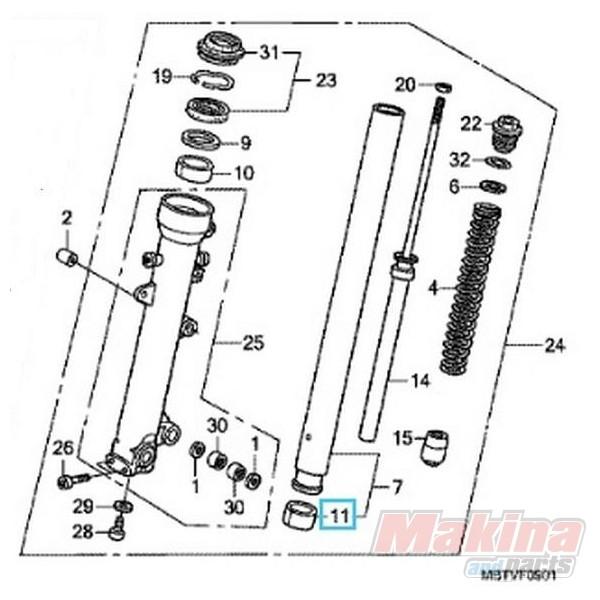 51415MCF003 Bush Slide Honda XL-1000V Varadero