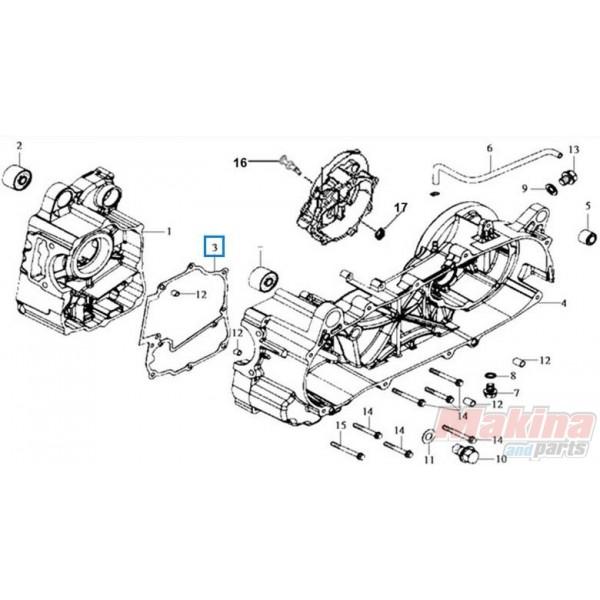 11191H9A000 Crankcase Gasket Sym HD-125-200 Joyride-125-200