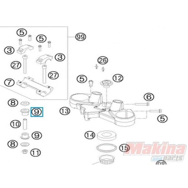 56401040000 Σινεμπλόκ Τιμονιού KTM LC4-640 LC8-950-990