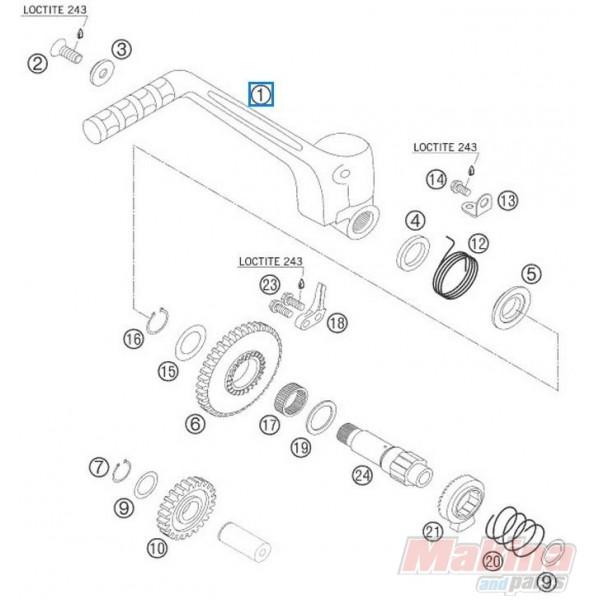 54833070044 Kick Starter Cpl. KTM EXC-SX '03-'06