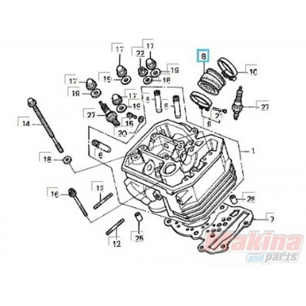 16211MY1000 Insulator Carburetor Honda XRV-750 Africa Twin