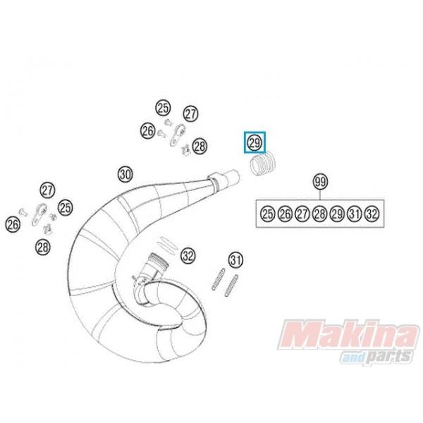 50205057000 Κολάρο Εξάτμισης KTM EXC-SX-250 '11-'14