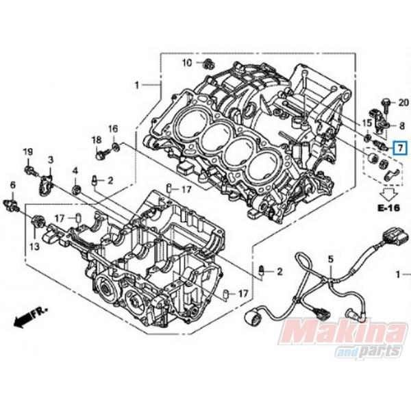 35600MFGD01 Switch Assy Neutral Honda CBF-600 '08-'11