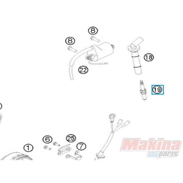 77239093000 Μπουζί KTM EXC-F SX-F 350