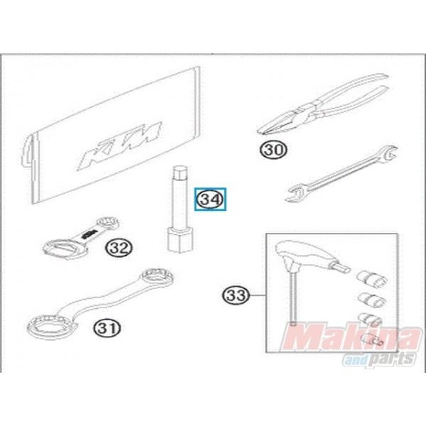 77229072000 Spark Plug Wrench KTM EXC-F SX-F 350