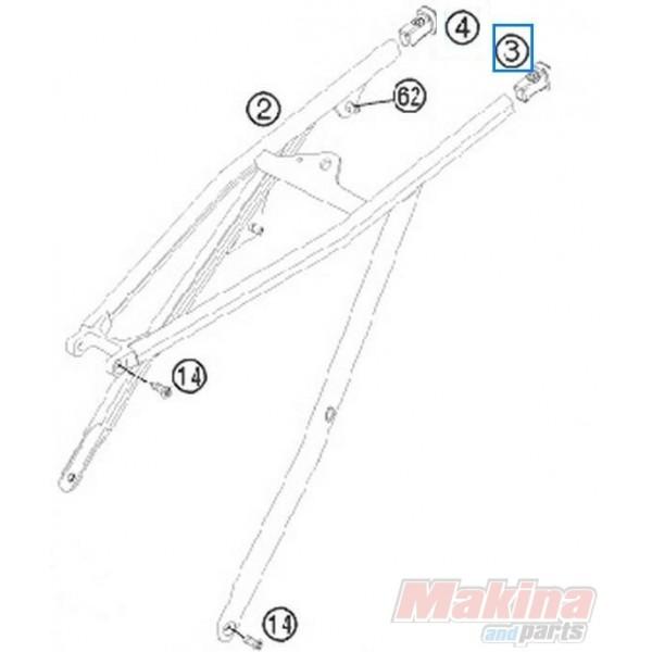 78003002010 Τάπα Υποπλαισίου Αριστερή KTM EXC-SX '08-'13
