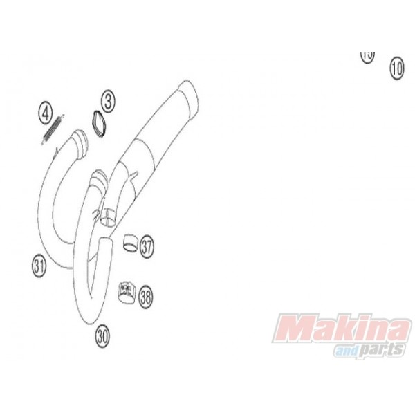 50305016000 Tensioner Exhaust Spring KTM EXC-SX-LC4-640