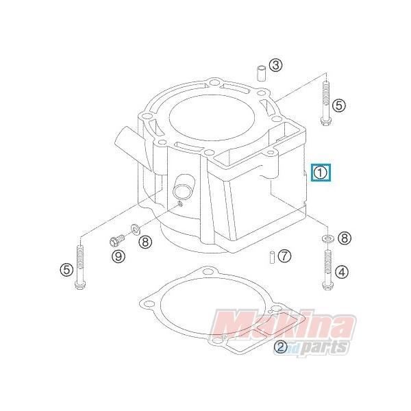 59030038000 Κυλινδροπίστονο Σετ KTM EXC-520-525 SX-520-525