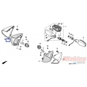33410MBG000 Φλας Εμπρός Δεξιό Honda XL-1000V Varadero '99-'02
