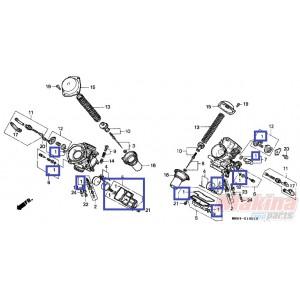 16010MR1691 Gasket Set Carburetor Honda XL-600V Transalp