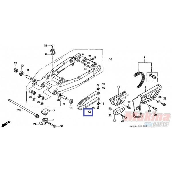 52170KZ1671 Slider Chain Honda XR-250