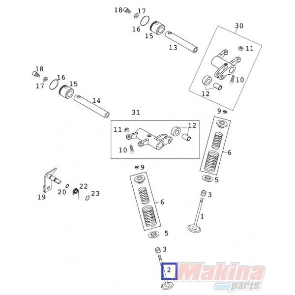 59036031000 Valve Exhaust KTM EXC-400-450-520-525