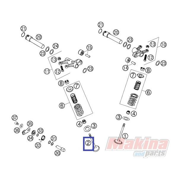 58536031000 Valve Exhaust KTM LC-4 640 '03-'06