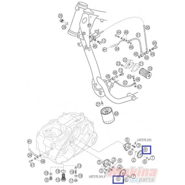 58438001000 Γρανάζι Αντλίας Λαδιού KTM LC4-640 '98-'07