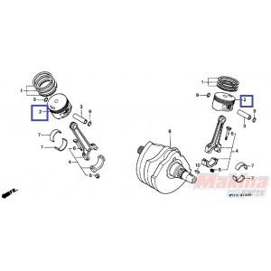 13102MV1305 Πιστόνι 0.25 Ρεκτιφιέ Honda XRV-750