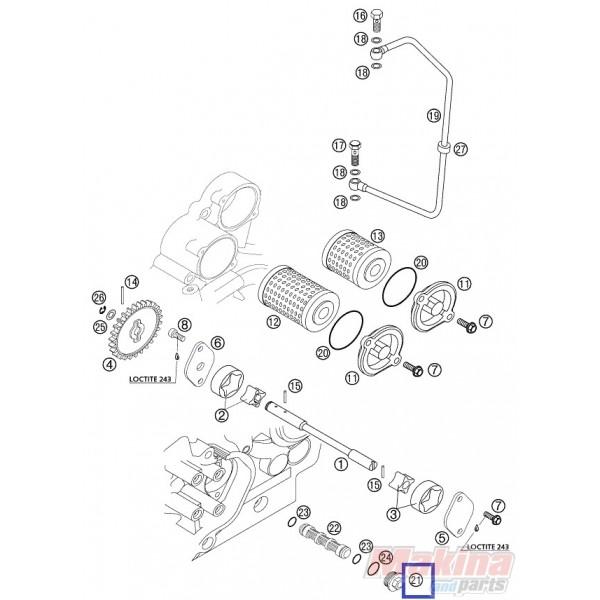 59038017100 Oil Plug KTM EXC-SX