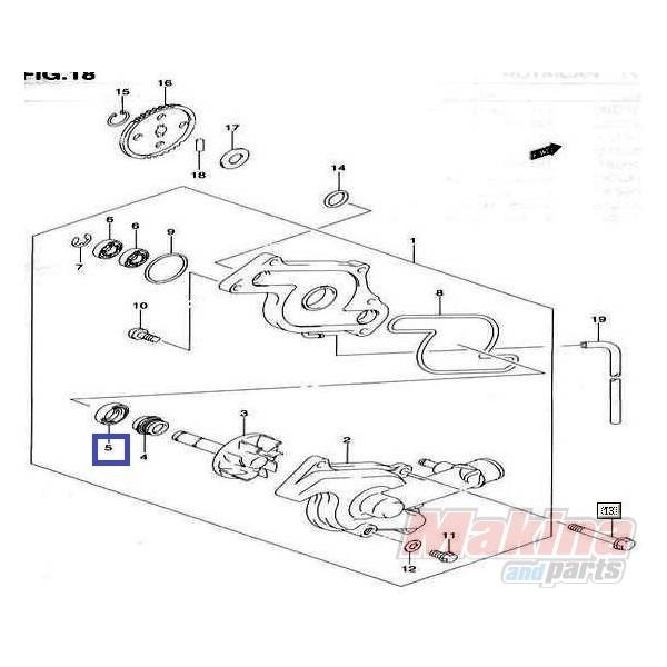 0928310004 Τσιμούχα Αντλίας Νερού Suzuki DL-650 V-Strom